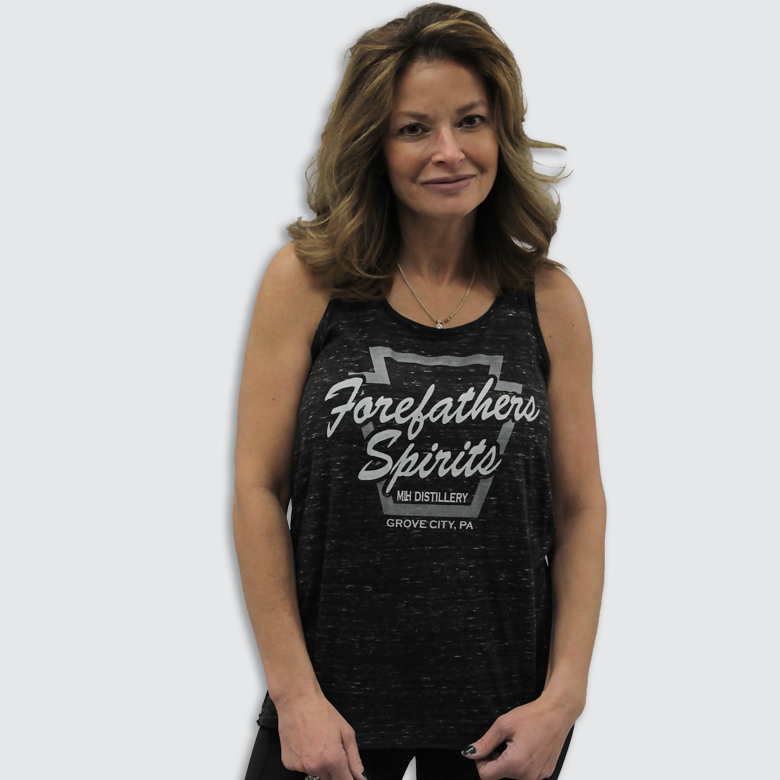 MLHH-119-91-8800-322 Forefathers Spirits Ladies Flowy Racerback Tank